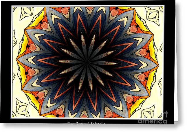 Jesus work Digital Greeting Cards - Stained Glass Kaleidoscope 33 Greeting Card by Rose Santuci-Sofranko