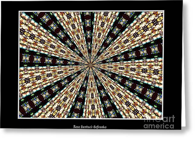 Stained Glass Kaleidoscope 39 Greeting Card by Rose Santuci-Sofranko