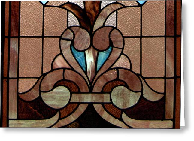 American Glass Art Greeting Cards - Stained Glass LC 06 Greeting Card by Thomas Woolworth