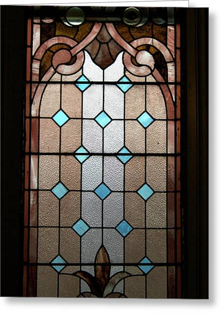 American Glass Art Greeting Cards - Stained Glass LC 15 Greeting Card by Thomas Woolworth