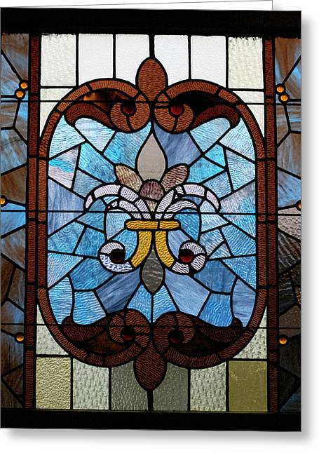 Colorful Photos Glass Art Greeting Cards - Stained Glass LC 19 Greeting Card by Thomas Woolworth