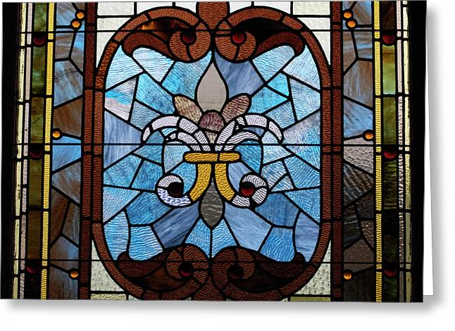 Stained Glass LC 19 Greeting Card by Thomas Woolworth