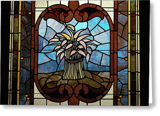 Stained Glass LC 20 Greeting Card by Thomas Woolworth