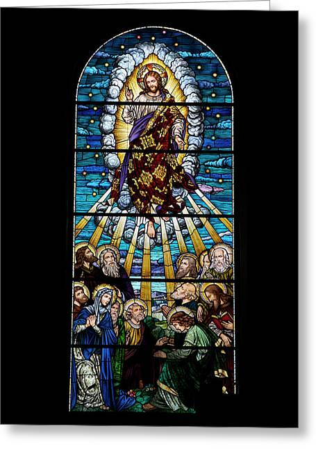 Illuminate Greeting Cards - Stained Glass PC 01 Greeting Card by Thomas Woolworth