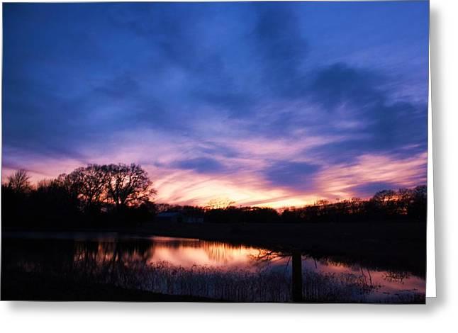 Lorri Crossno Greeting Cards - Stained Glass Sunset Greeting Card by Lorri Crossno