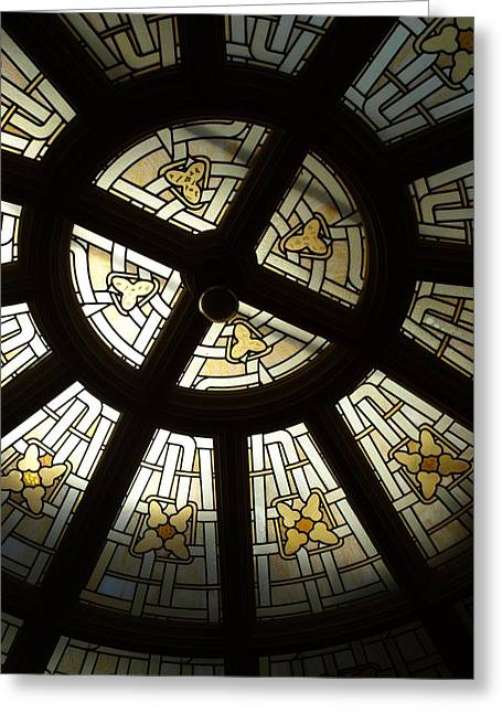 Stainglass Greeting Cards - Stainglass Greeting Card by Debi Ling