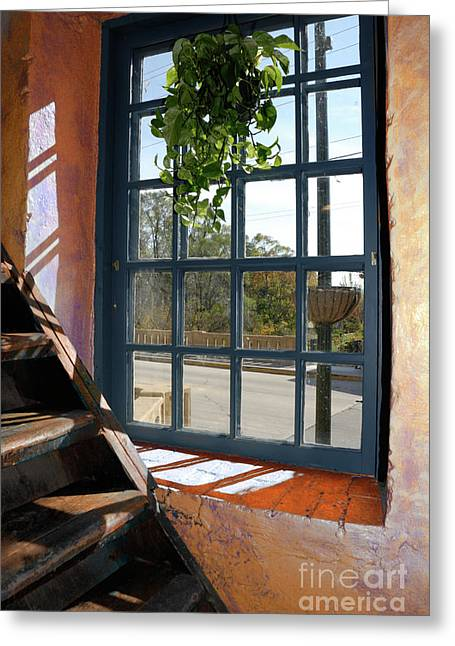 Arthur Fix Greeting Cards - Stair Lit Greeting Card by Arthur Fix