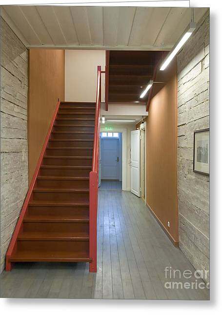 Wooden Stairs Greeting Cards - Staircase In Old Building Greeting Card by Jaak Nilson