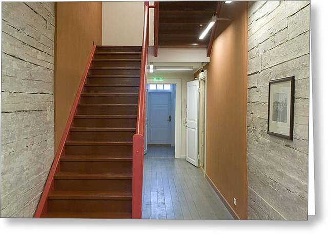 Staircase In Old Building Greeting Card by Jaak Nilson