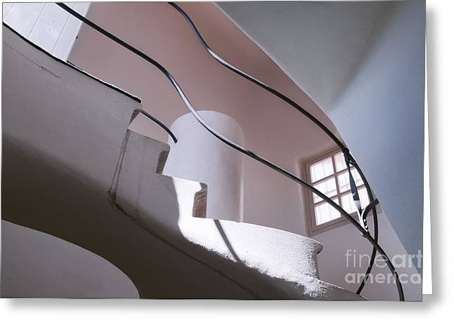 Olia Saunders Greeting Cards - Staircase Interior in Casa Batllo Barcelona  Greeting Card by Design Remix