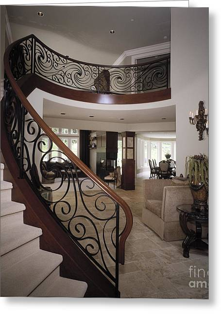 Entryway Greeting Cards - Staircase Greeting Card by Robert Pisano