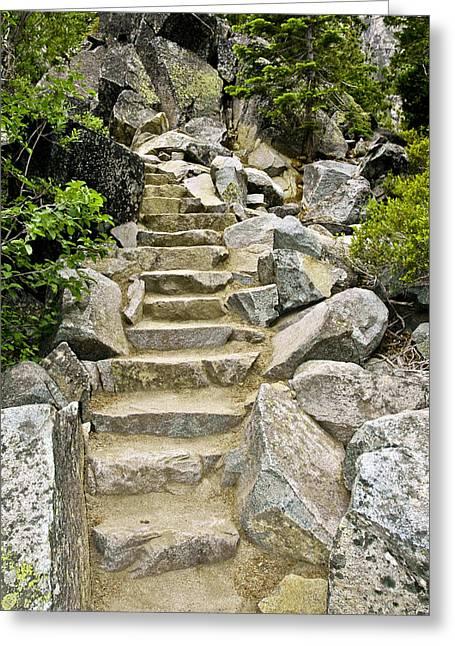 Eagle Greeting Cards - Staircase to Eagle Falls Lake Tahoe Greeting Card by LeeAnn McLaneGoetz McLaneGoetzStudioLLCcom