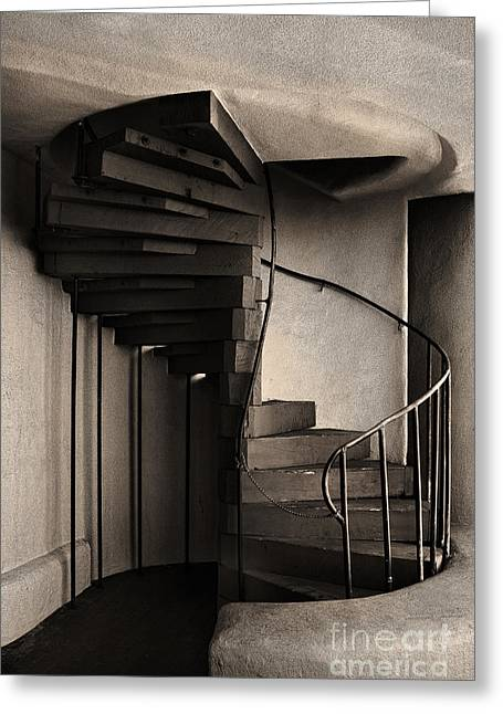 Santa Fe Greeting Cards - Stairs Greeting Card by Elena Nosyreva