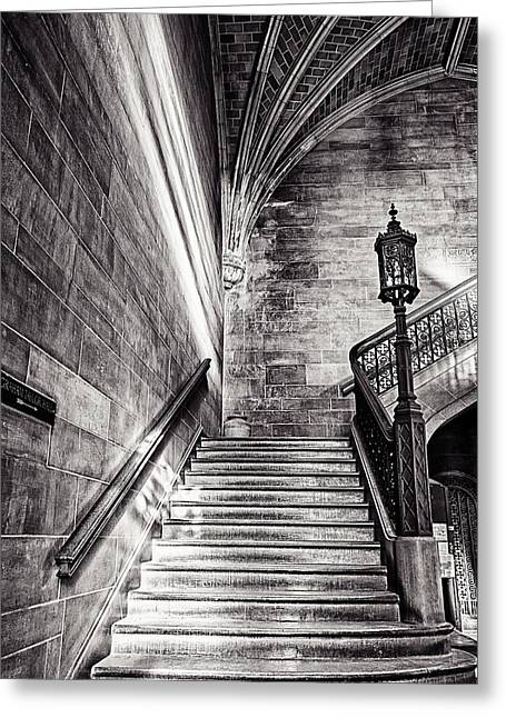 Cj Greeting Cards - Stairs of the Past Greeting Card by CJ Schmit