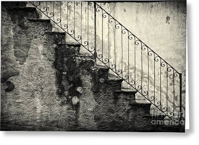 Graphic Architecture Greeting Cards - Stairs on a rainy day Greeting Card by Silvia Ganora