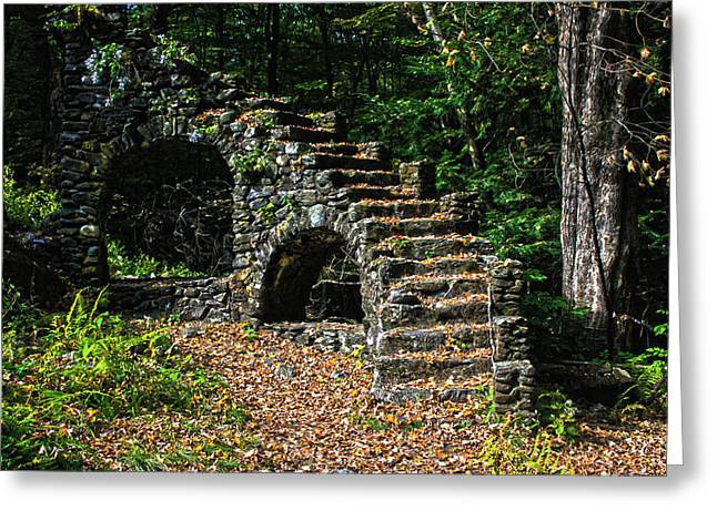 Stairs To Nowhere Greeting Card by Tanya Chesnell