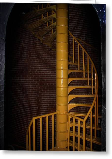 Barnegat Inlet Greeting Cards - Stairs To The Top Greeting Card by Skip Willits
