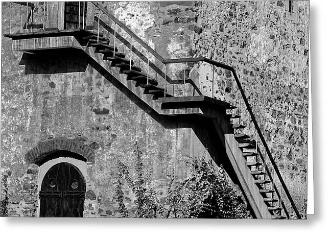 Step Ladder Greeting Cards - Stairway Greeting Card by Gabriela Insuratelu