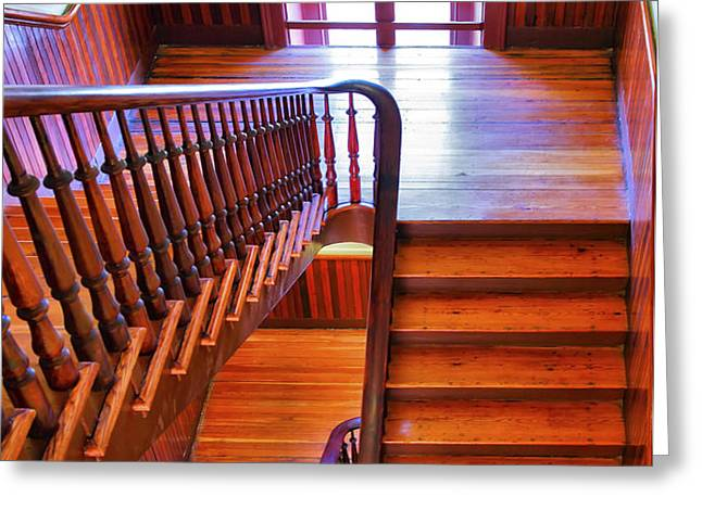 Stairway In Old Naval Hospital Greeting Card by Steven Ainsworth