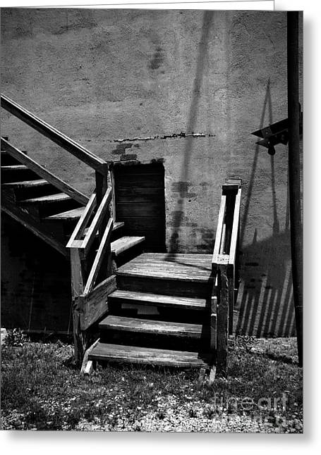 Staris Greeting Cards - Stairway Left Greeting Card by Fred Lassmann