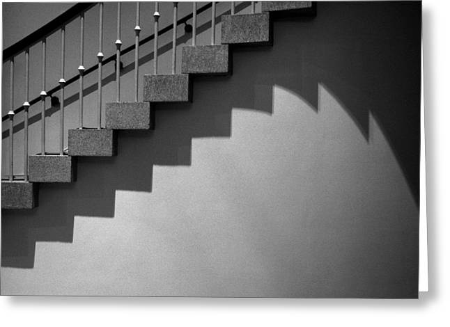 D.w Greeting Cards - Stairway Shadows Greeting Card by Steven Ainsworth