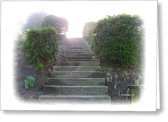 Incline Digital Greeting Cards - Stairway To A New Beginning Greeting Card by Brian Wallace