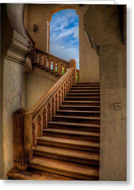 Stone Steps Greeting Cards - Stairway to Heaven Greeting Card by Adrian Evans