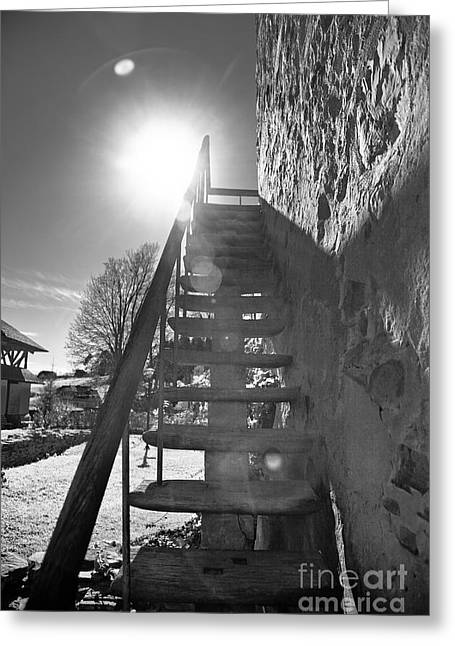 Step Ladder Greeting Cards - Stairway to heaven Greeting Card by Gabriela Insuratelu