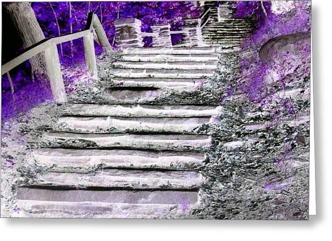 Rhonda Barrett Greeting Cards - Stairway to Heaven Greeting Card by Rhonda Barrett