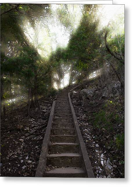 Ascending Risen Greeting Cards - Stairway To Heaven Greeting Card by Ricky Barnard