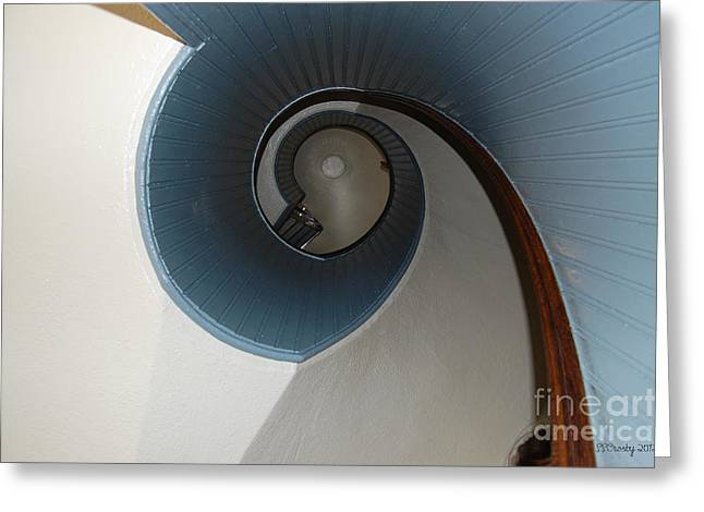 Stairway To The Past Greeting Card by Susan Stevens Crosby