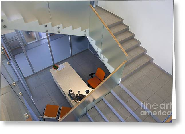 Stairwell in and Office Greeting Card by Jaak Nilson
