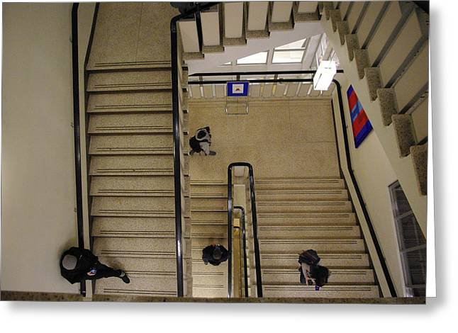 Flight Of Stairs Greeting Cards - Stairwell Greeting Card by Marilyn Wilson