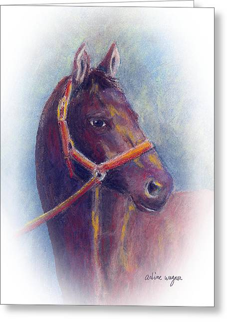 Equines Pastels Greeting Cards - Stallion Greeting Card by Arline Wagner