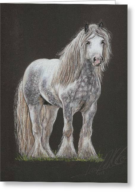 Stallion Pastels Greeting Cards - Stallion Dunbroody Greeting Card by Terry Kirkland Cook