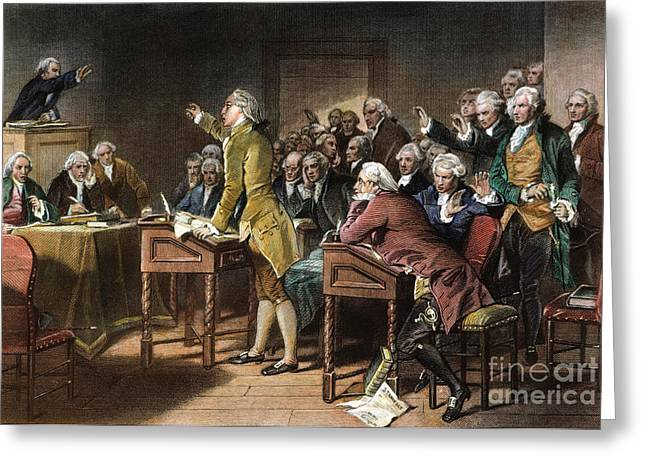Southeastern Greeting Cards - Stamp Act: Patrick Henry Greeting Card by Granger