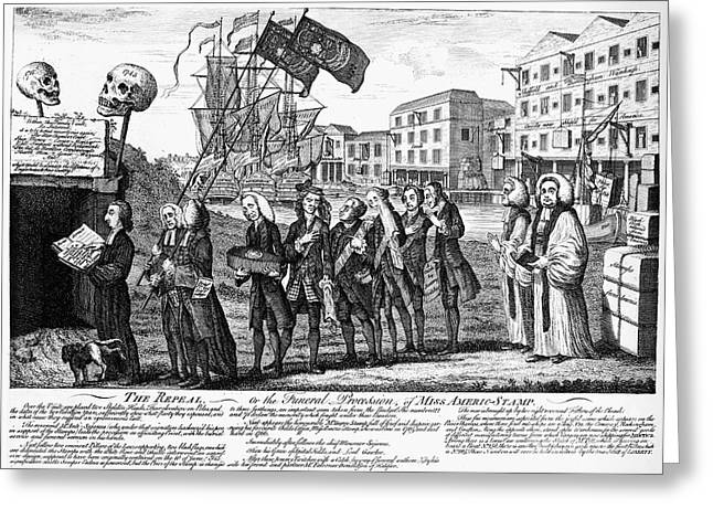 Repeal Greeting Cards - Stamp Act: Repeal, 1766 Greeting Card by Granger