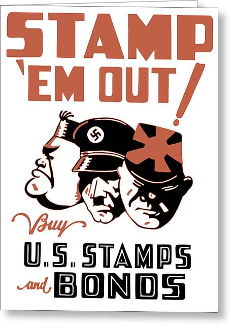 Second Greeting Cards - Stamp Em Out  Greeting Card by War Is Hell Store