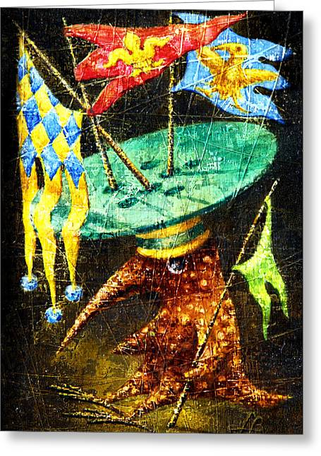 Art Unexpected Greeting Cards - Standard-bearer Greeting Card by Lolita Bronzini