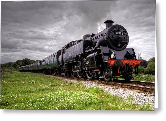 Southern Class Greeting Cards - Standard Tank on the Swange Greeting Card by Rob Hawkins
