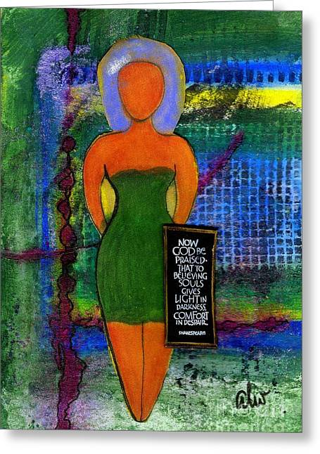 Wax Mixed Media Greeting Cards - STANDing 4 Something Greeting Card by Angela L Walker