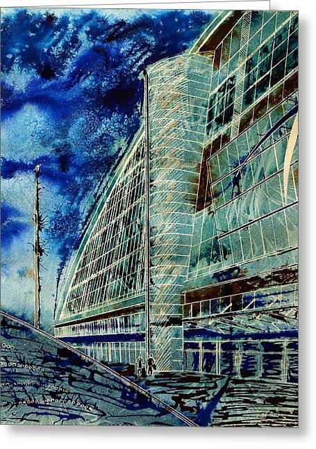 Milton Keynes Greeting Cards - Standing at the Gateway of Youth Greeting Card by Cathy S R Read