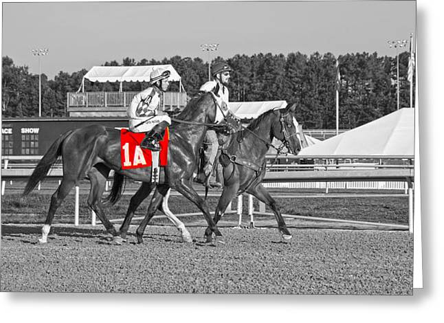 Racing Number Greeting Cards - Standing Out Greeting Card by Betsy A  Cutler