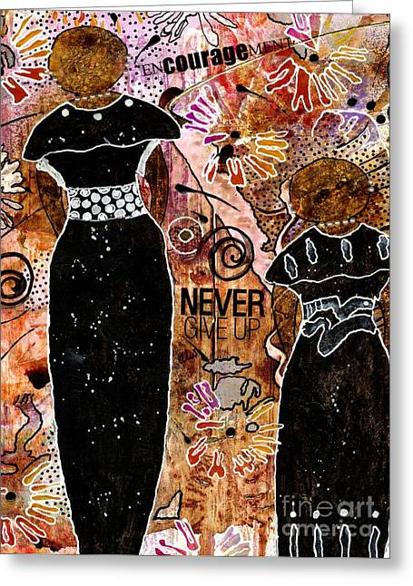 Jubilation Greeting Cards - Standing Steadfast in LOVE and Kindness Greeting Card by Angela L Walker