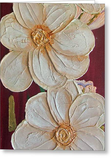 Pink Reliefs Greeting Cards - Standing Tall Greeting Card by Merlene Pozzi