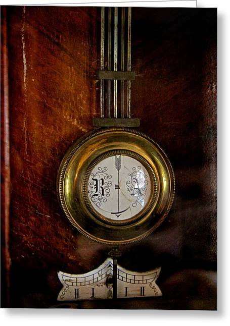 Clock Hands Greeting Card featuring the photograph Standstill by Odd Jeppesen