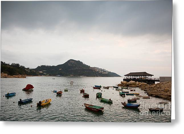 Recently Sold -  - China Cove Greeting Cards - Stanley Bay HK Greeting Card by Ei Katsumata