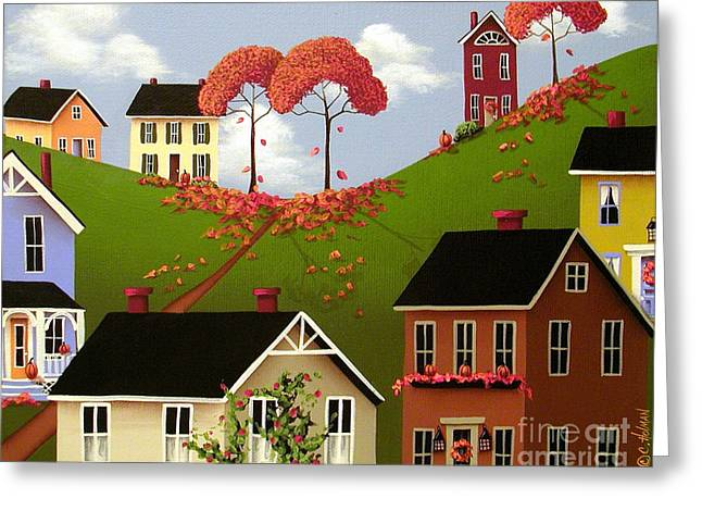 Autumn Prints Greeting Cards - Staplehill  Greeting Card by Catherine Holman