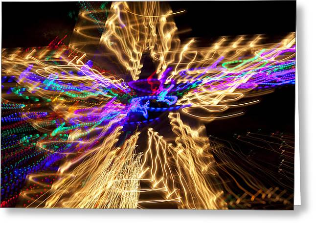 Star abstract Greeting Card by Garry Gay