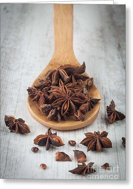 Aniseed Greeting Cards - Star anise Greeting Card by Sabino Parente